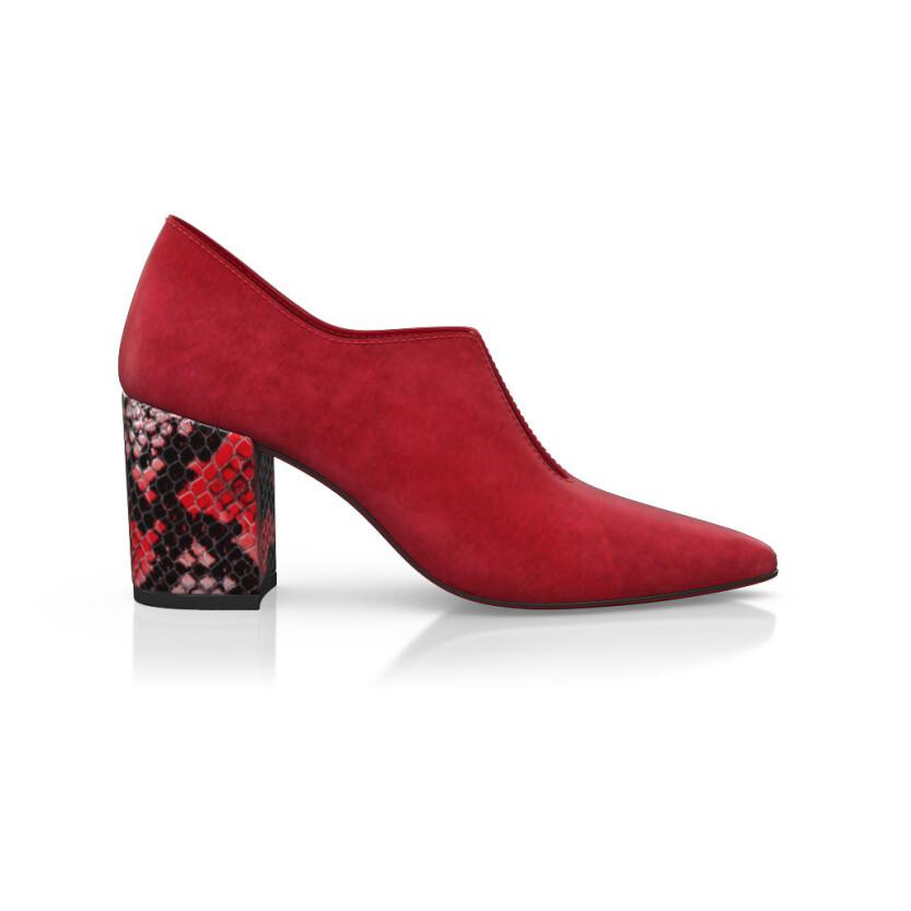 Chaussures pointues à talon large 8642
