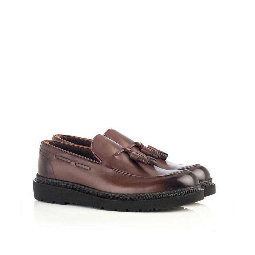 Chaussures Slip-on pour Hommes Luigi Marron