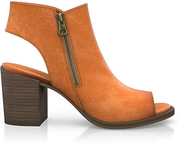 Sandales à Talon Large 4502