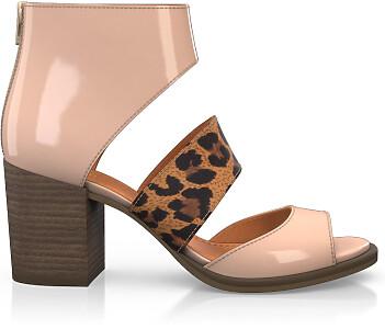 Sandales à Talon Large 4640
