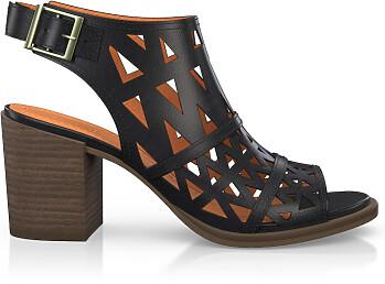 Sandales à Talon Large 2526