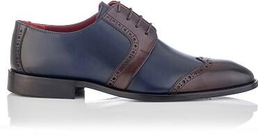 Chaussures Derby pour Hommes Paolo Bleu & Marron