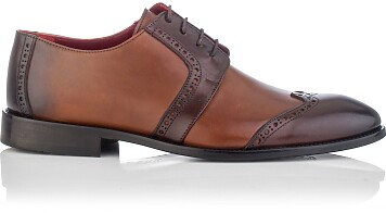 Chaussures Derby pour Hommes Paolo Cognac & Marron