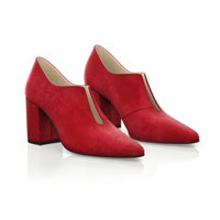BLOCK HEEL POINTED TOE SHOES 6533
