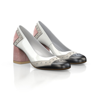 SQUARE HEELED SHOES 19663