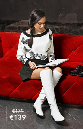 White over-the-knee boots