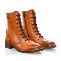 BROGUE LACE-UP ANKLE BOOTS 5568