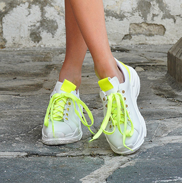 Neon Yellow Platform Sneakers