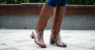 Brown boots details