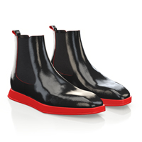 MEN`S SQUARE TOE FLAT ANKLE BOOTS 12053