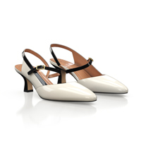 MID HEEL POINTED TOE SHOES 18244