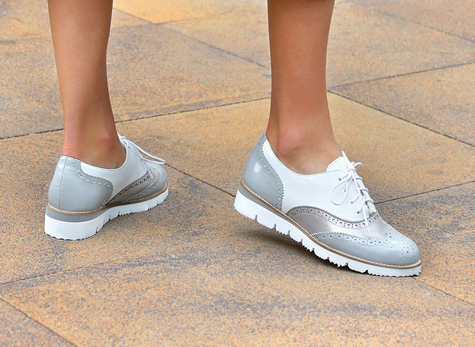 Light gray Oxford Shoes