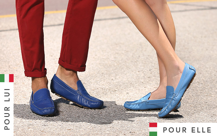 Mocassins for her and for him