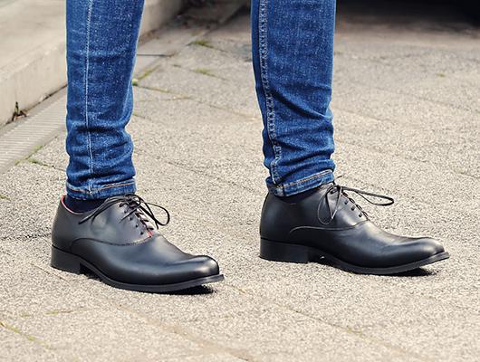 Black oxford shoes
