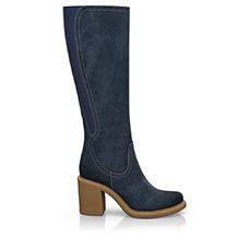 Navy blue boots